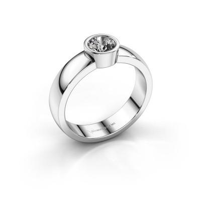 Foto van Ring Ise 1 585 witgoud zirkonia 4.7 mm