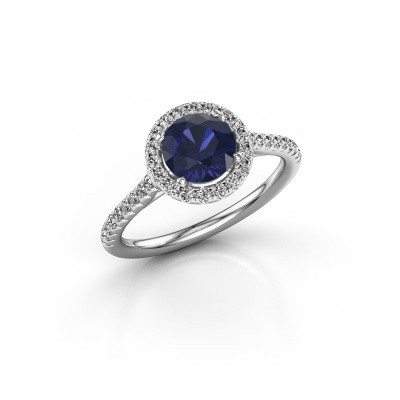 Picture of Engagement ring Seline rnd 2 925 silver sapphire 6.5 mm