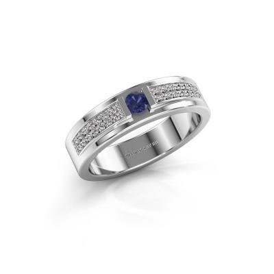 Foto van Ring Chanell 925 zilver saffier 3 mm