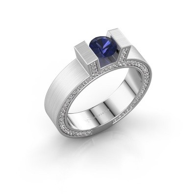 Picture of Ring Leena 2 585 white gold sapphire 5 mm