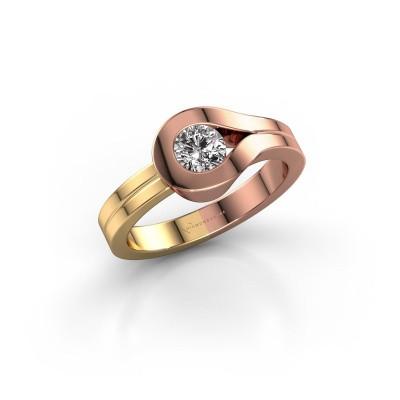 Bague Kiki 585 or rose diamant 0.40 crt