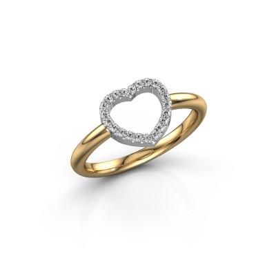 Bild von Ring Heart 7 585 Gold Diamant 0.11 crt