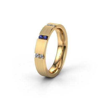 Wedding ring WH2133L14BM 375 gold sapphire ±4x2.2 mm