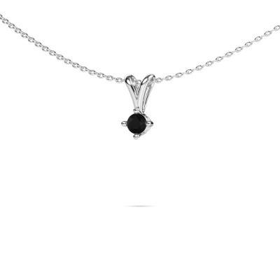 Foto van Ketting Jannette 950 platina zwarte diamant 0.24 crt
