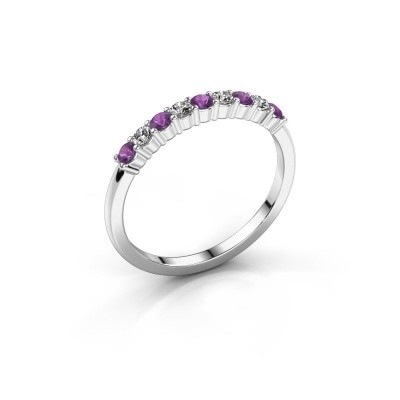 Picture of Engagement ring Yasmin 9 585 white gold amethyst 2.4 mm