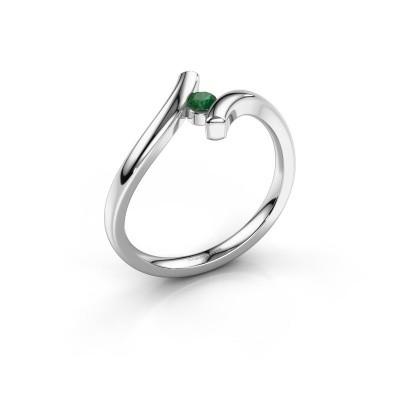 Foto van Ring Amy 925 zilver smaragd 3 mm