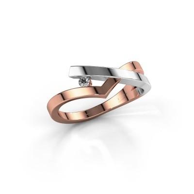 Ring Pamella 585 rose gold diamond 0.045 crt