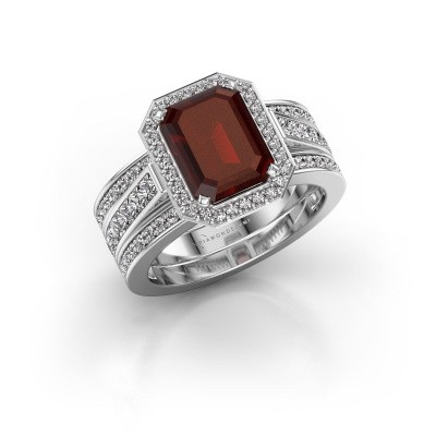 Picture of Ring Dodie 3 585 white gold garnet 9x7 mm