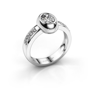Ring Charlotte Oval 585 white gold zirconia 7x5 mm