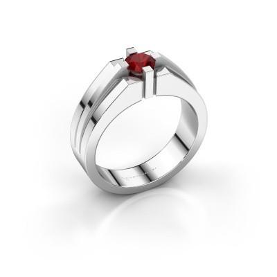 Foto van Heren ring Kiro 585 witgoud robijn 5 mm