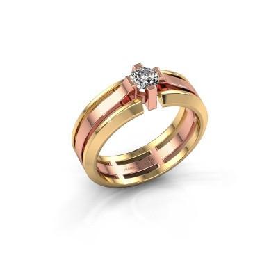 Herrenring Sem 585 Roségold Diamant 0.40 crt
