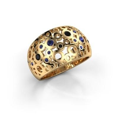 Ring Jaylinn 2 375 goud saffier 2.2 mm