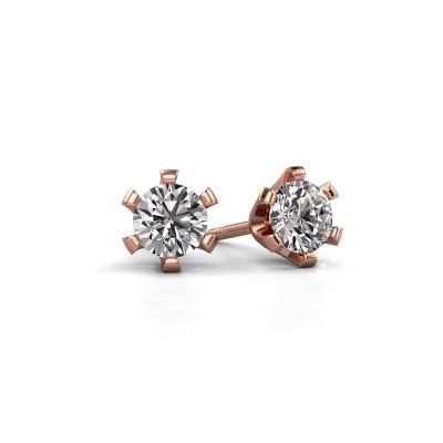 Oorstekers Shana 375 rosé goud diamant 0.40 crt