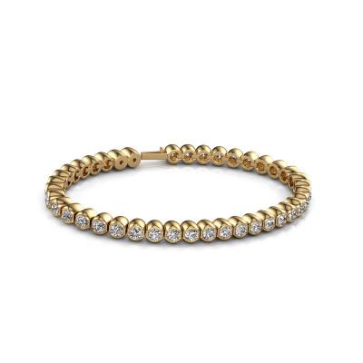 Bild von Tennis Armband Bianca 3.5 mm 375 Gold Zirkonia 3.5 mm