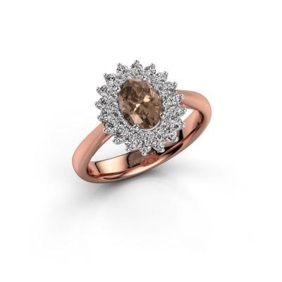 Engagement ring Alina 1 585 rose gold brown diamond 0.80 crt