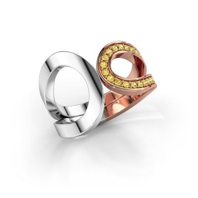Ring Aniek 585 rose gold yellow sapphire 1.3 mm