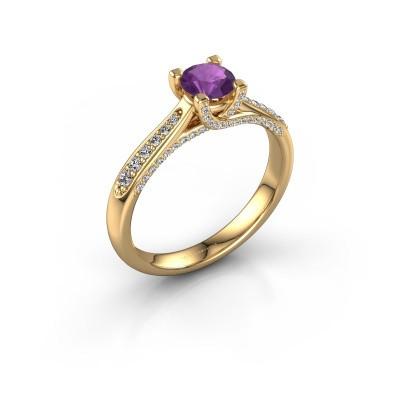 Verlovingsring Mia 3 375 goud amethist 5 mm
