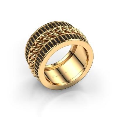 Bild von Ring Jayda 375 Gold Schwarz Diamant 1.800 crt