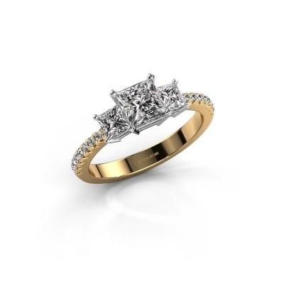 Engagement ring Dorla 585 gold zirconia 5 mm