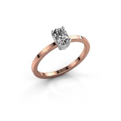Foto van Ring Lynelle 1 585 rosé goud zirkonia 6x4 mm