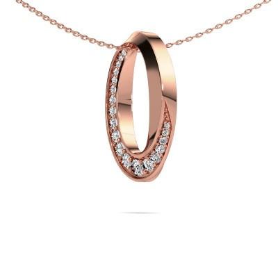 Foto van Ketting Zola 375 rosé goud diamant 0.531 crt