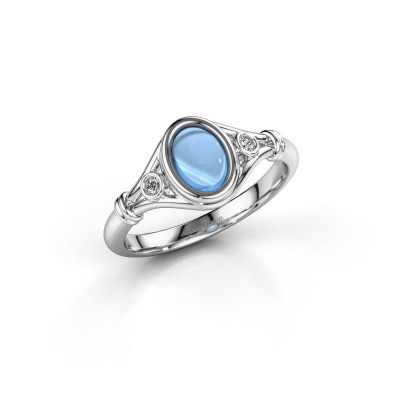 Picture of Ring Scarlett 585 white gold blue topaz 7x5 mm