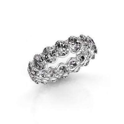 Foto van Ring Kirsten OVL 5x4 585 witgoud diamant 5.60 crt