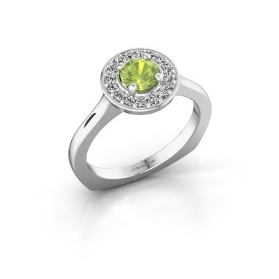 Picture of Ring Kanisha 1 585 white gold peridot 5 mm