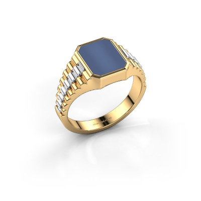 Picture of Signet ring Brent 1 585 gold blue sardonyx 10x8 mm