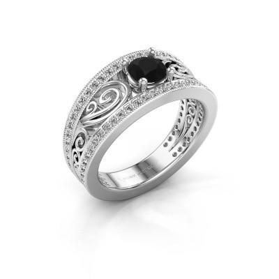 Foto van Verlovingsring Julliana 585 witgoud zwarte diamant 1.01 crt