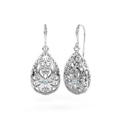 Picture of Drop earrings Idalia 2 950 platinum aquamarine 2 mm
