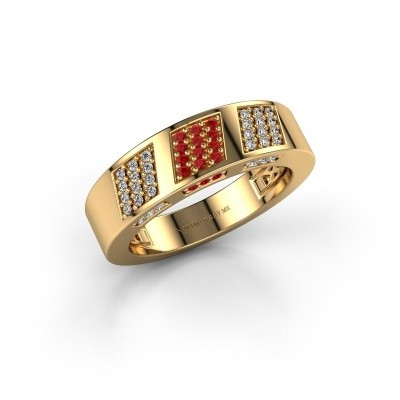 Ring Jessika 375 goud robijn 1.1 mm