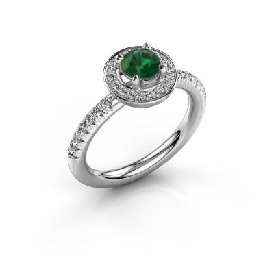 Foto van Ring Christine 925 zilver smaragd 5 mm