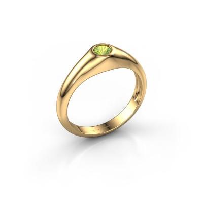 Foto van Pinkring Thorben 585 goud peridoot 4 mm