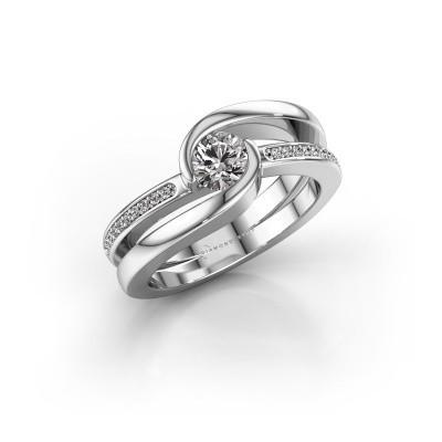 Foto van Ring Xenia 2 925 zilver diamant 0.60 crt