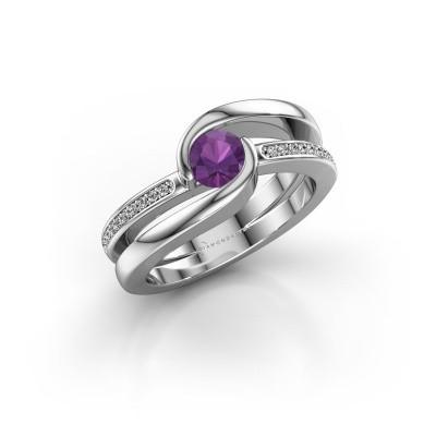 Foto van Ring Xenia 2 925 zilver amethist 5 mm