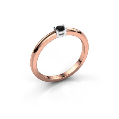 Picture of Engagement ring Michelle 1 585 rose gold black diamond 0.096 crt
