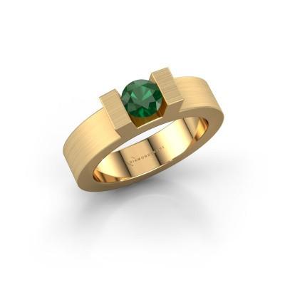 Foto van Ring Leena 1 375 goud smaragd 5 mm
