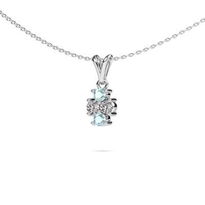 Picture of Necklace Richelle 950 platinum aquamarine 3 mm