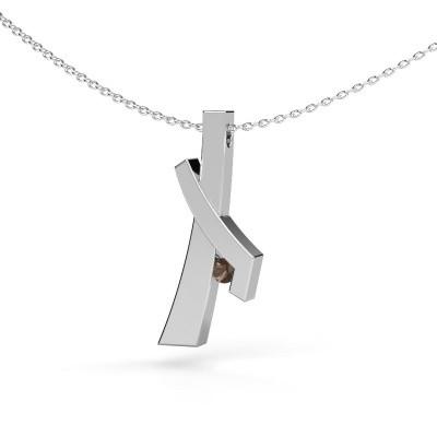 Hanger Alyssa 925 zilver rookkwarts 2.7 mm