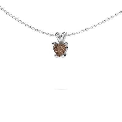 Foto van Ketting Sam Heart 925 zilver bruine diamant 0.50 crt