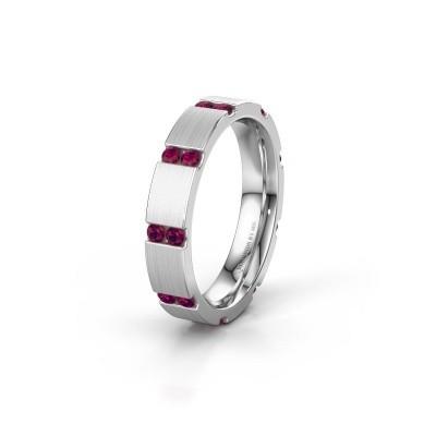 Weddings ring WH2132L14BM 950 platinum rhodolite ±4x2.2 mm