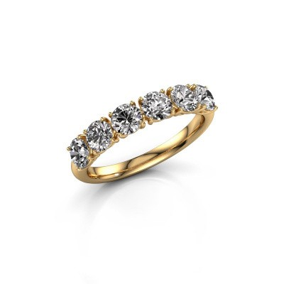 Picture of Ring Vivienne Half 375 gold diamond 1.50 crt