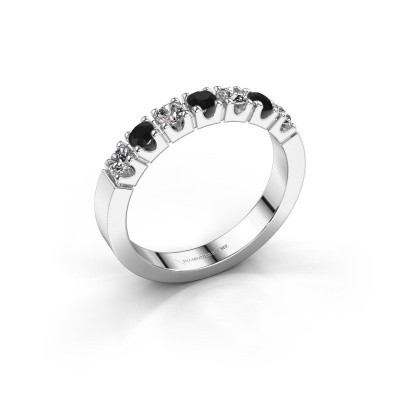 Foto van Verlovingsring Dana 7 585 witgoud zwarte diamant 0.608 crt