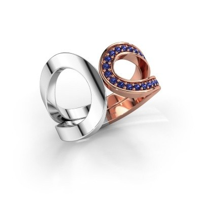 Ring Aniek 585 rosé goud saffier 1.3 mm