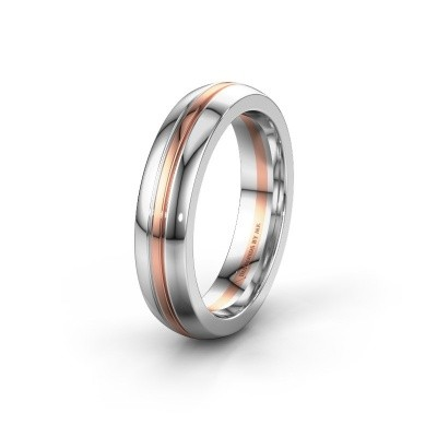 Wedding ring WH0416M25E 585 rose gold ±5x2.4 mm