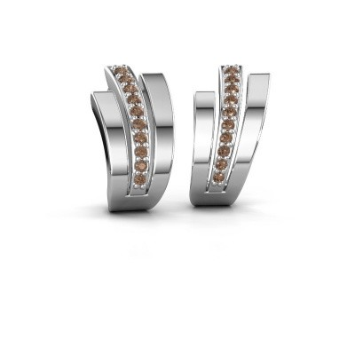 Earrings Emeline 925 silver brown diamond 0.20 crt