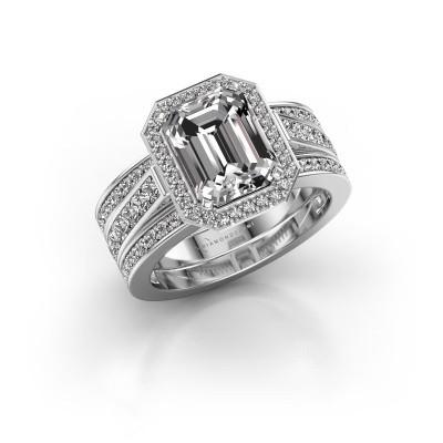 Foto van Ring Dodie 3 950 platina lab-grown diamant 3.49 crt