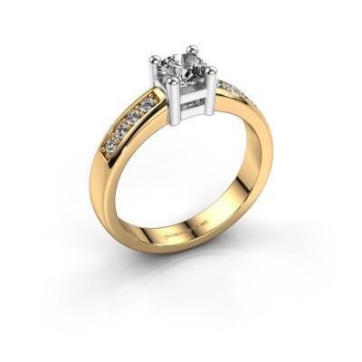 Bague de fiançailles Eline 2 585 or jaune diamant 0.56 crt