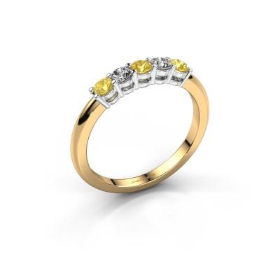 Foto van Promise ring Michelle 5 585 goud gele saffier 2.7 mm